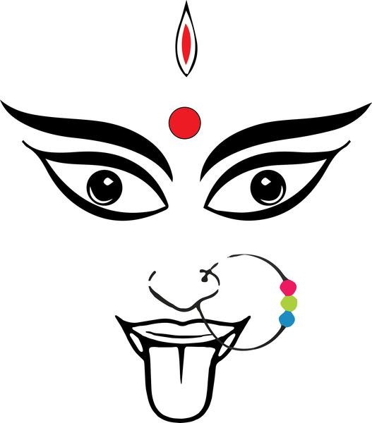 Vector Icon Design Symbol Mahakali Durgamata Oldgod
