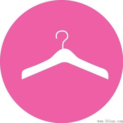 Vector Pink Background Hanger Icon Free Vector In Adobe