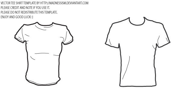 Vector T-shirt template Free vector in Adobe Illustrator