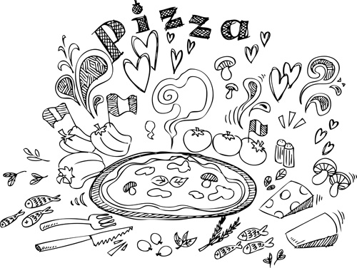 Vintage pizza design vector Free vector in Encapsulated
