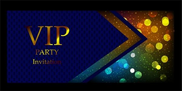 vip invitation card background blue