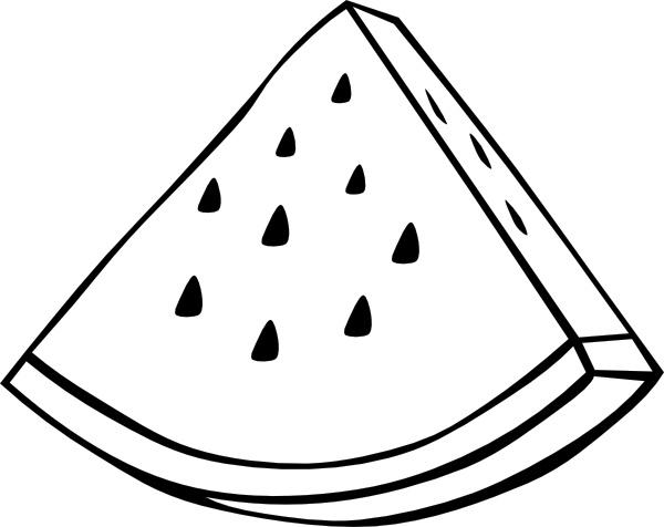 watermelon melon outline clip