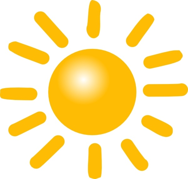 Weather Sunny Clip Art Free Vector In Open Office Drawing