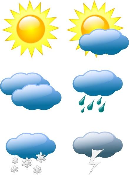 weather symbols clip art free vector