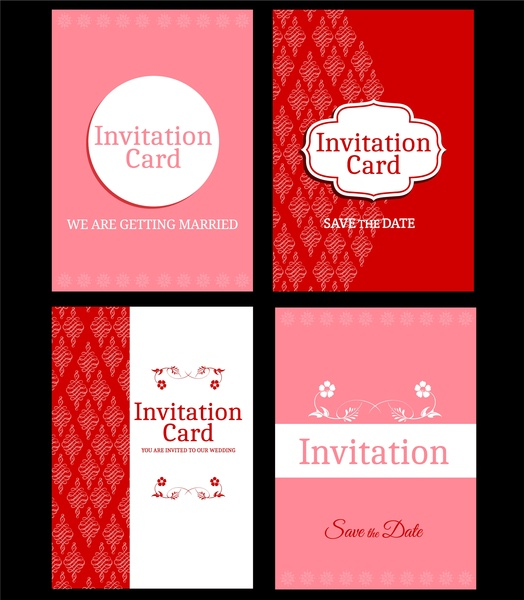 Wedding Card Design Template Free Vector 22 616 For Mercial Use Format Ai Eps Cdr Svg Ilration Graphic Art