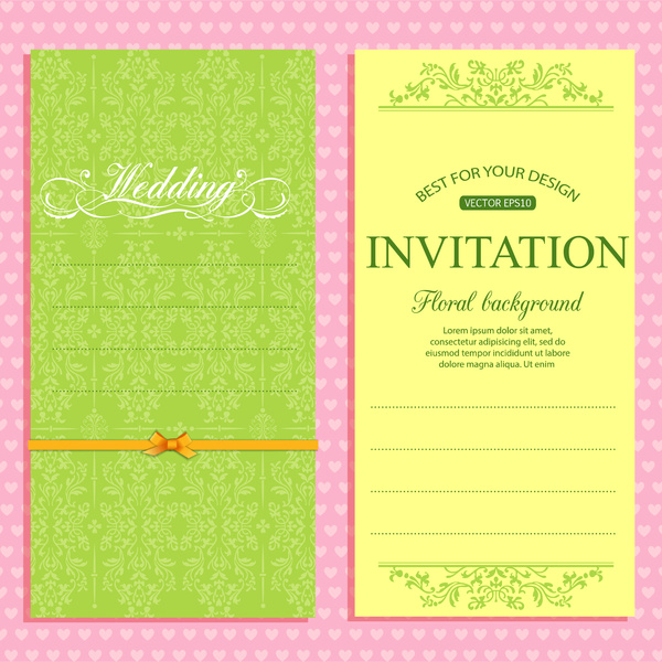 Wedding Invitation Card Template Free Vector 5 02mb