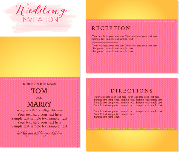 Stylish Black And Gold Email Wedding Card Template For Hindu Events
