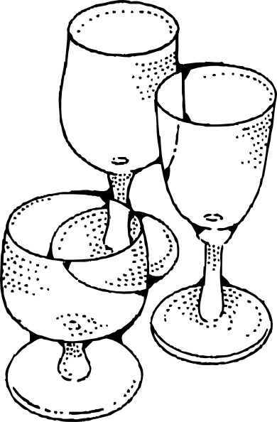 Wine Glasses clip art Free vector in Open office drawing