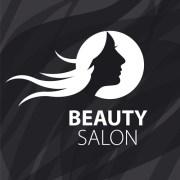 woman head with beauty salon logos