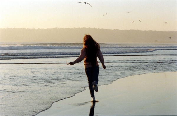 woman on coronado beach