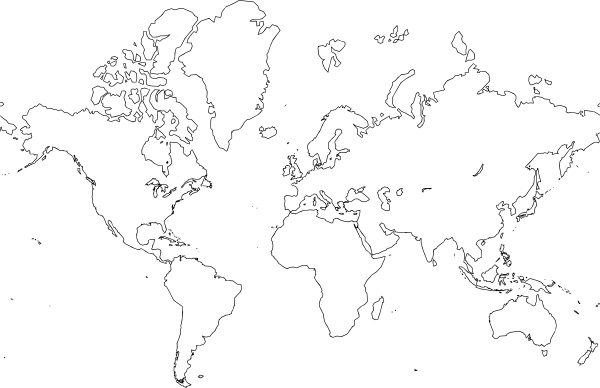 World Map clip art Free vector in Open office drawing svg