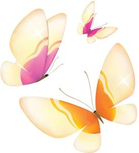 yellow and pink butterfly flying vector