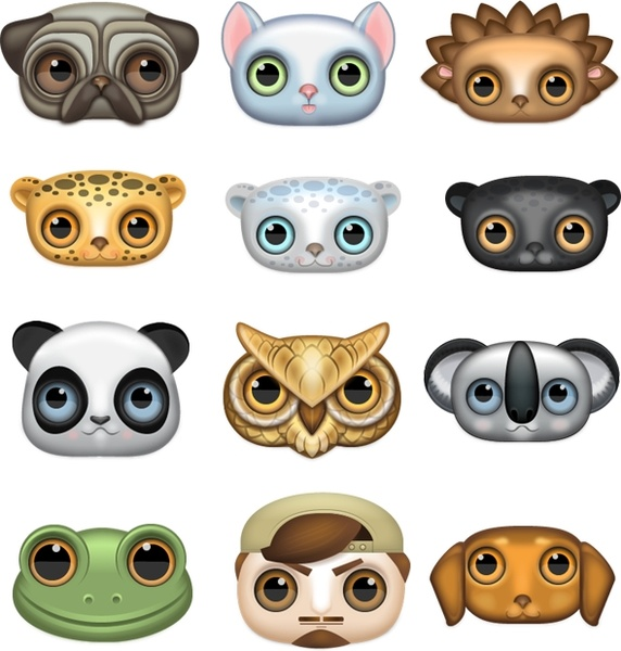 Zoomeyed creatures icons pack Free icon in format for