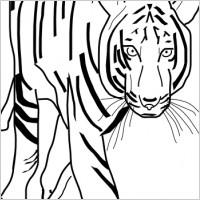 Tiger camo stencil