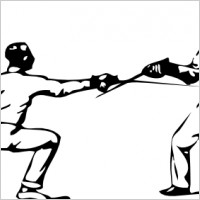 Fencing sabre Free vector for free download about (1) Free