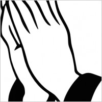 Praying Hands clip art Free vector in Open office drawing