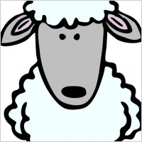 Sheep Head clip art