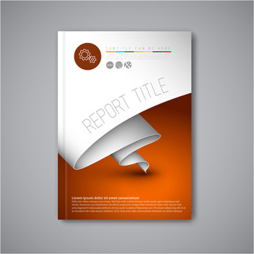 Red report cover page template free vector download (22,968 Free ...