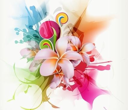 round floral design free