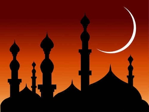 abstract Mosque vector background