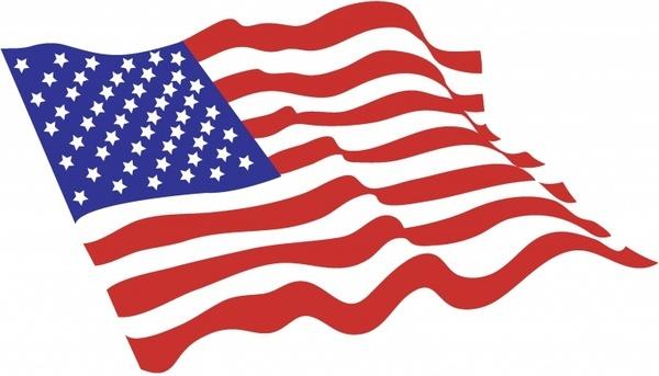 american flag vector art