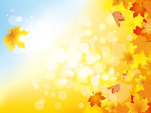 Fall Leaves Watercolor Wallpaper Yellow Autumn Background Free Vector Download 49 681 Free