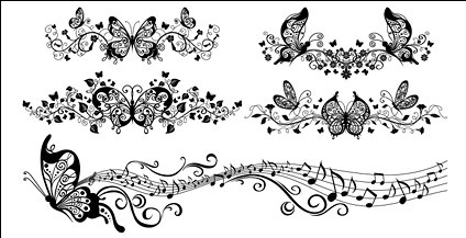 Beautiful butterfly pattern vector material