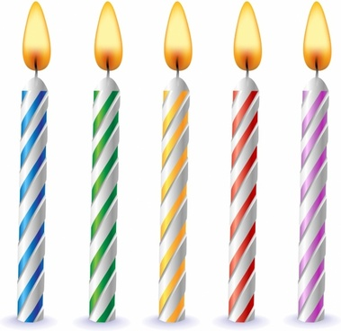 birthday candle vector free