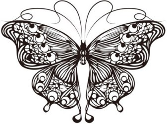 Cartoon butterfly outline free vector download 28 136 Free vector for commercial use format: ai eps cdr svg vector illustration graphic art design