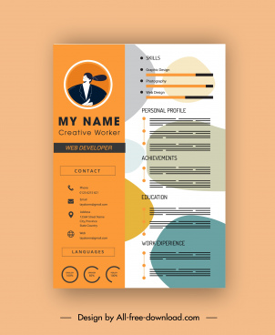 Template Cv Coreldraw : template, coreldraw, Vector, Template, Download, (24,457, Vector), Commercial, Format:, Illustration, Graphic, Design
