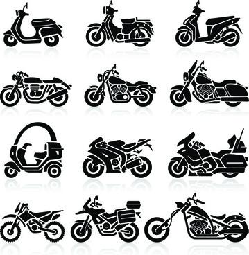 Vector motorcycle harley davidson free vector download