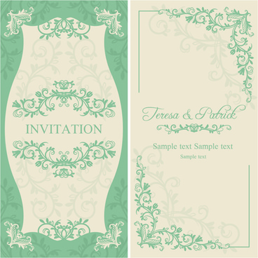 Pretty Wedding Invitation With A Fl Frame