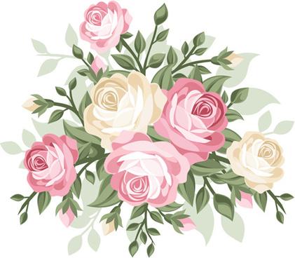 elegant flower border free vector