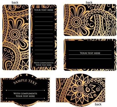 golden invitation card free vector