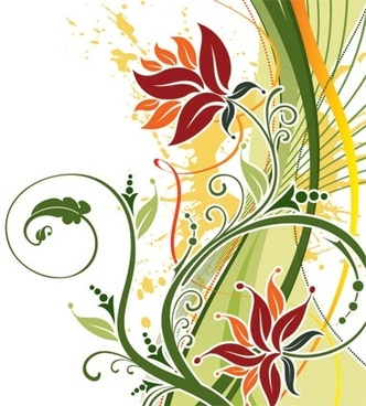 floral free vector download