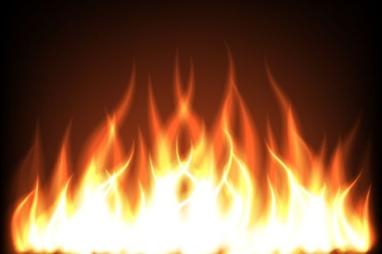 vector realistic flame free