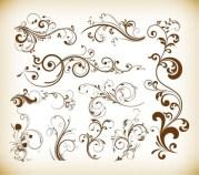 swirls decor design vector set