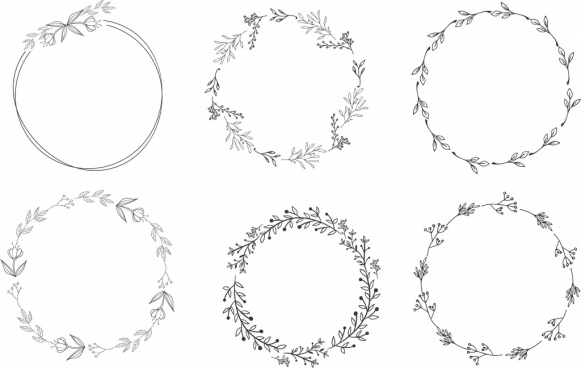 wreath template free svg # 8