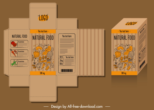 photo Box Design Templates Free Download food packaging templates free vector