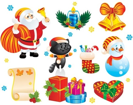 Christmas Web Elements Pack Psd