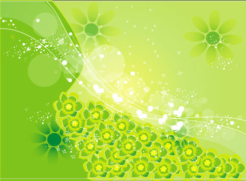 vector green islamic background