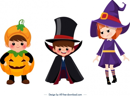 Kids Halloween Costumes Free Vector Download 3 194 Free Vector For Commercial Use Format Ai Eps Cdr Svg Vector Illustration Graphic Art Design