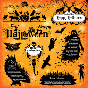 Halloween Frame Free vector in Open office drawing svg