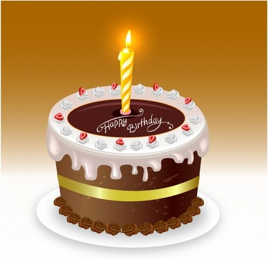 Happy Birthday Cake Background Image Free Vector Download 52275