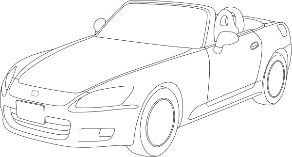 sports car outlines clipart