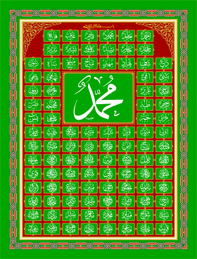Tulisan Muhammad Arab : tulisan, muhammad, Tulisan, Allah, Muhammad, Vector, Download, Vector), Commercial, Format:, Illustration, Graphic, Design