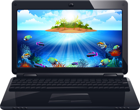 laptop free vector download