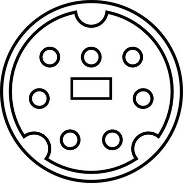 Minidin connector pinout free vector download (24 Free