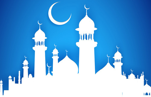 islamic background free vector