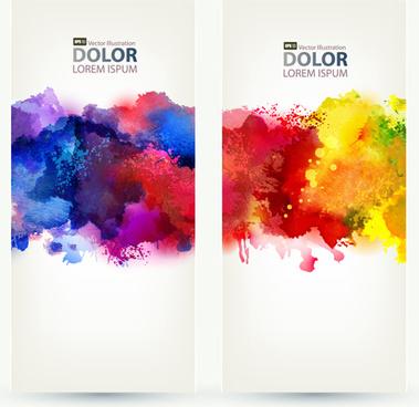 watercolor splash vector free